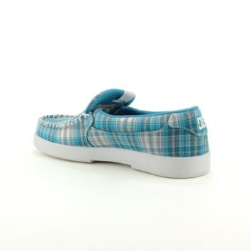 Womens DC Villain TX Skate Shoe, Ocean Blue White Plaid, at Journeys Shoes