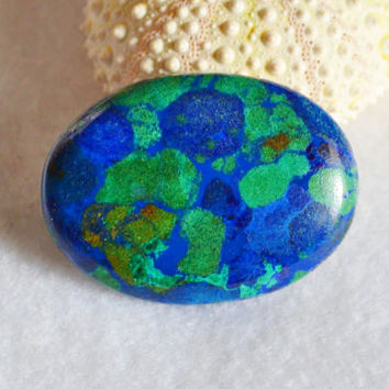Azurite cabochon, oval cabochon, blue green, wire wrapped stone, bezel setting, jewelry supplies, jewelry design, loose cabochons, gemstones