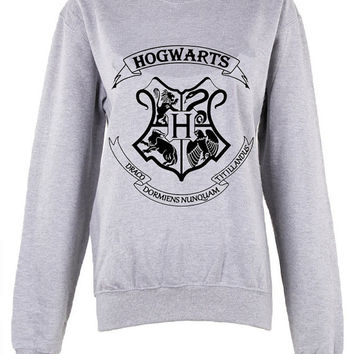 Harry Potter Hogwarts Logo master of death triangle shirt womens ladies  print  sweatshirt