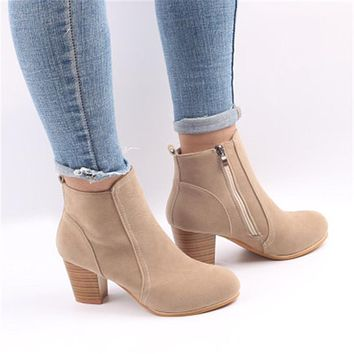 Women Boots Ladies Party Western Stretch Fabric Boots