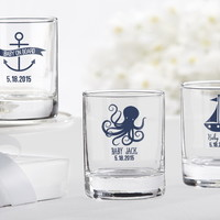 Opentip.com: Kate Aspen 30003NA-NB Personalized Shot Glass/Votive Holder - Kate's Nautical Baby Shower Collection