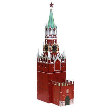 Spasskaya Tower paper model || Moscow Kremlin clock tower || height 9 inches or 23 cm