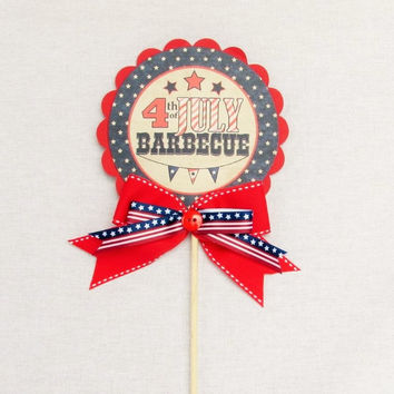 Fourth of July Cake Topper