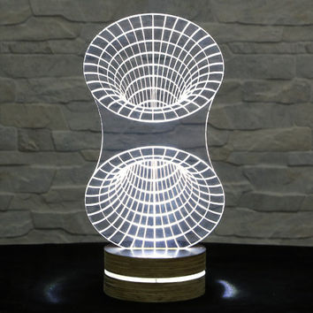 Home Decor, Office Decor, Whirlpool Shape, 3D LED Lamp, Acrylic Lamp, Amazing Effect, Art Light, Nursery Light, Artistic Lamp, Table Light