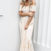 Loving Feeling Natural Maxi Dress *ready to go live* - Amazing Lace
