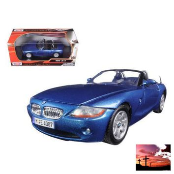 BMW Z4 Blue 1/24 Diecast Model Car by Motormax