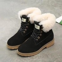 UGG Fashion Fur Wool Martens Boots Shoes