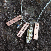 White Peas in a Pod Family or Couples Necklace