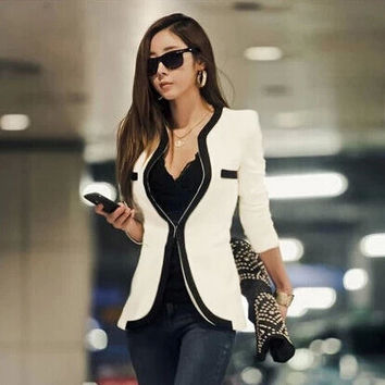 Fine Temperament Slim Fit Suit Cardigan Jacket Coat