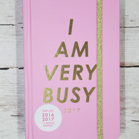 Ban.do 17 Month Classic Agenda - I Am Very Busy, Carnation
