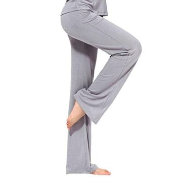 DCCKFS2 Pro Women yoga Long Pants Sport Fitness Gym Running Loose trousers