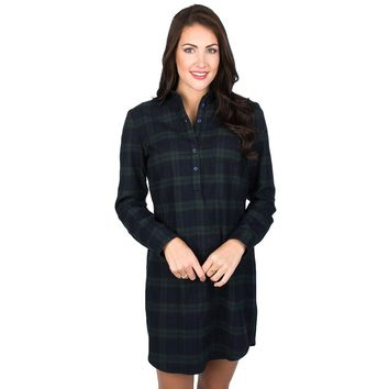 Dakota Plaid Dress in Navy by Lauren James - FINAL SALE