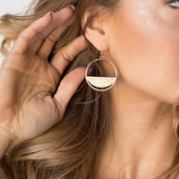 Chic Hoop Gold Earrings