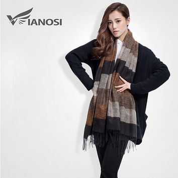 [VIANOSI] Brand Warm Women Scarf Tassel Winter Scarf Women Shawls Soft Foulard DS063