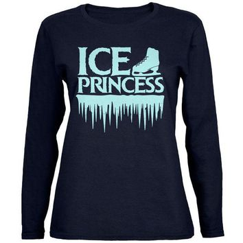DCCKIS3 Ice Princess Figure Skating Womens Long Sleeve T Shirt