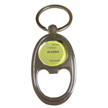 Algeria Map Bottle Opener Key Chain