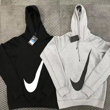 NIKE : Champion flower rose print sweater grey hoodie pullover Grey