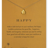 """Dogeared Happy Buddha Pendant Necklace, 18"""" 