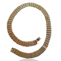 Curb Chain Necklace , Chunky Gold Plated Chain , Choker Style Necklace