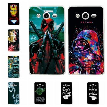 Deadpool Dead pool Taco Charming  Cases For Samsung Galaxy Core 2 iron Man Soft TPU Phone Case For Samsung Core2 G355H G355 Back Cover Fundas AT_70_6