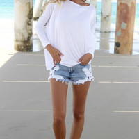 Lounge Tunic - White | SABO SKIRT