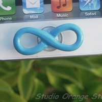 Blue Infinity Apple iPhone Home Button Sticker
