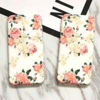 Vintage Floral iPhone 7 7Plus & iPhone se 5s 6 6 Plus Case Best Protection Cover +Gift Box-532-170928