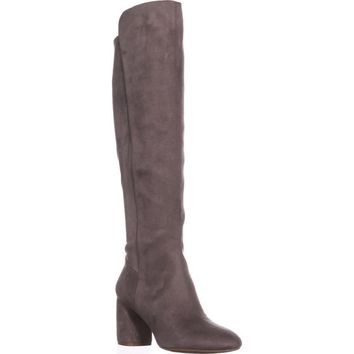 Nine West Kerianna Knee High Pull-On Boots, Grey, 7 US
