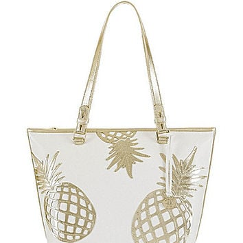 Brahmin Gold Del Pina Collection Medium Asher Tote | Dillards.com