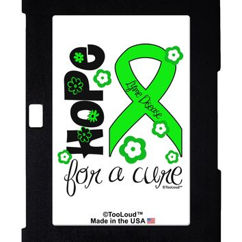 Hope for a Cure - Lime Green Ribbon Lyme Disease - Flowers Galaxy Note 10.1 Case  by TooLoud