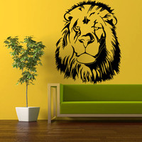 Wall Vinyl Sticker Decals Decor Art Bedroom Wall Decal Design Mural Lion Leo Lev Lew (z340)