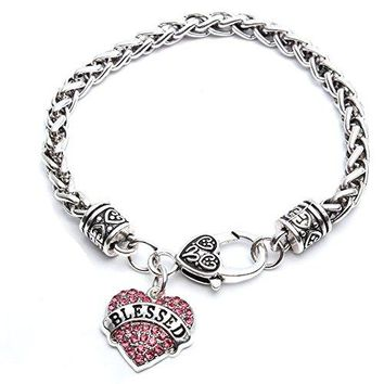 Godyce Heart Bracelet Blessed Gymnastics Mimi Nurse Mom Hope  Crystal Jewelry with Gift Box