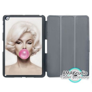 Marilyn Monroe Bubble Gum Pink Cover Case For Apple iPad Mini 1 2 3 4 Air Pro 9.7 Wake UP Sleep