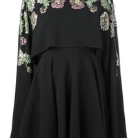 Alexander McQueen Embellished Cape Dress - Farfetch