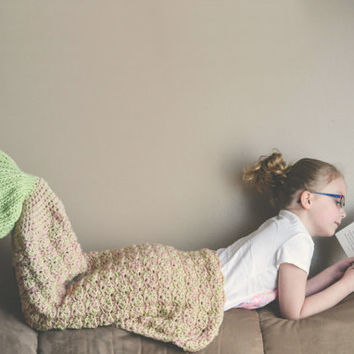 Crochet Pattern for Mermaid Tail Blanket - Toddler to Adult - Welcome to sell finished items