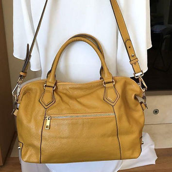 "ORA DELPHINE ""Adele"" Satchel Leather Tote Purse Large Shoulder Bag Vintage"