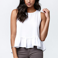 LA Hearts Lisa Ruffled Babydoll Top at PacSun.com