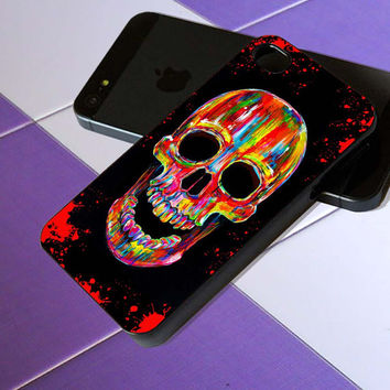 sugar skull chromatic - iPhone 4 / iPhone 4S / iPhone 5 / Samsung S2 / Samsung S3 / Samsung S4 Case Cover