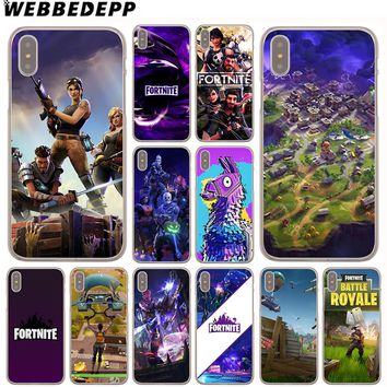 WEBBEDEPP Fortnite Cool Case for iPhone X or 10 8 7 6 6S Plus 5 5S SE 5C 4 4S 1