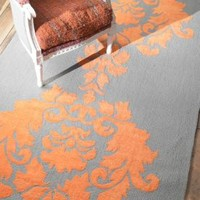 Rugs USA Elegance Cotton and Wool Damask VST25 Orange Rug