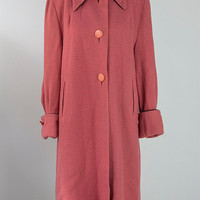 Vintage 1960s MOD Wool Princess Coat Candy PINK