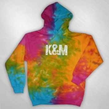Kalin and Myles - KAM logo tie dye pullover hoodie [KAM3005]: Now Just $40.00