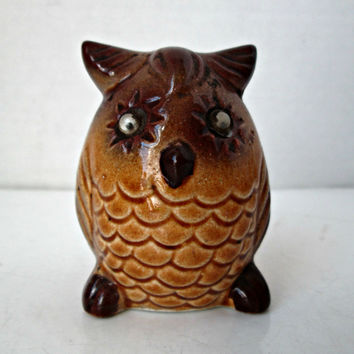 Vintage Owl Salt Shaker Single