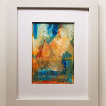 021 Original Abstract  Art on Paper. Free-shipping within USA.