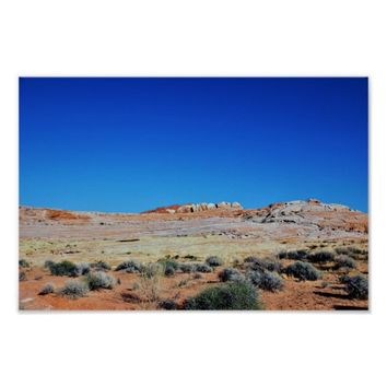 Valley of Fire Desert Landscape Photo Poster