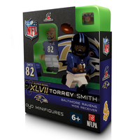 Torrey Smith 2012 AFC Champions Champs Oyo Mini Figure Lego Compatible Baltimore Ravens Super Bowl XLVII Edition