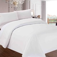 Red Nomad Luxury Duvet Cover & Sham Set, 3 Piece, Full/Queen, White