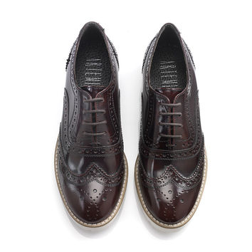 Aija Burgundy Brogues