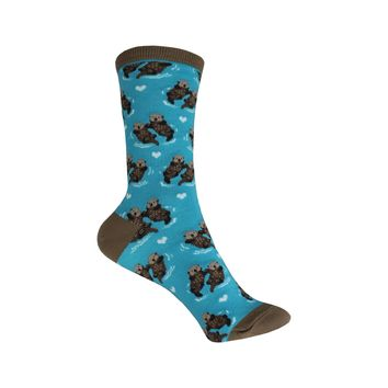 Significant Otter Crew Socks in Bright Blue