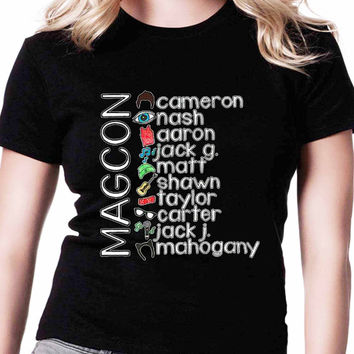 Magcon Boys Personil Name Perfection TV Womens T Shirts Black And White